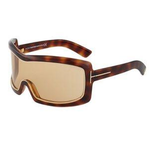 8e8921ba0ca64 Tom Ford Accessories - Tom Ford TF 305 Olga 52J Tortoise Brown Shield Ski